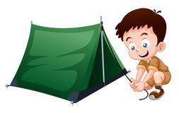 Padvinder het kamperen Stock Foto's