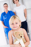 Paediatrician, mother, girl Royalty Free Stock Images