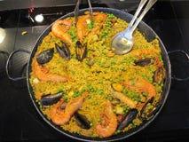 Paella με τα θαλασσινά Στοκ εικόνες με δικαίωμα ελεύθερης χρήσης