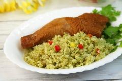 Paella του περουβιανού πιάτου Στοκ φωτογραφίες με δικαίωμα ελεύθερης χρήσης