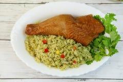 Paella του περουβιανού πιάτου Στοκ φωτογραφία με δικαίωμα ελεύθερης χρήσης