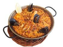 Paella-χαρακτηριστικά ισπανικά τρόφιμα Στοκ Εικόνες