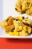Paella. Spanish national dish. backround out of focus Stock Images