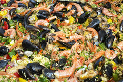 Paella background Royalty Free Stock Images