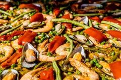 Paella in Bangkok, Thailand stock afbeelding
