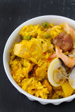 Paella in bowl Royalty Free Stock Photos
