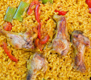 Paella with chicken Stock Image