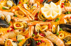 Paella close up Stock Photos