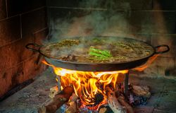 Paella cooked Royalty Free Stock Photos