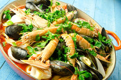 Paella cooking Stock Photo