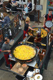 Paella cooking Royalty Free Stock Photography