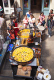 Paella, Covent Garden market, London. stock photography
