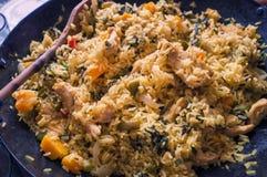 Paella cubana - plato tradicional del arroz Imagen de archivo libre de regalías