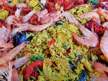 Paella - détail photographie stock libre de droits