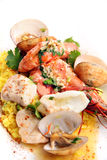 Paella de fruits de mer Photographie stock