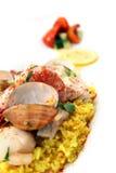 Paella de fruits de mer Images libres de droits