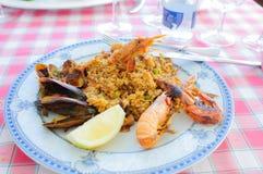 Paella de fruits de mer image libre de droits