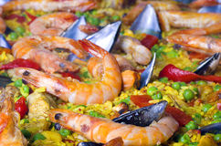 Paella de fruits de mer Photos stock