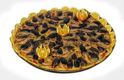 Paella de fruits de mer photos libres de droits