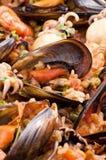 Paella de los mariscos Imagenes de archivo