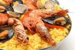 Paella de los mariscos Imagen de archivo