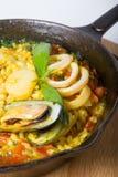 Paella de riz espagnol Images libres de droits
