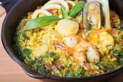 Paella de riz espagnol Image stock