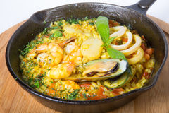Paella de riz espagnol Photo stock