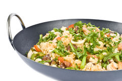 Paella dei frutti di mare Immagini Stock