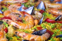 Paella dei frutti di mare Fotografie Stock