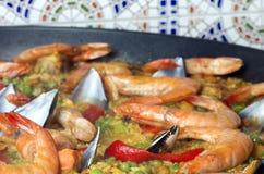 Paella dei frutti di mare Immagini Stock Libere da Diritti
