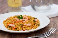 Paella deliziosa Fotografia Stock