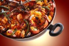 Paella des fruits de mer images libres de droits