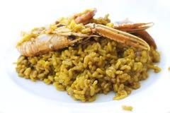 Paella des fruits de mer de Valence photos libres de droits