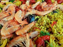 Paella - detail Royalty Free Stock Images
