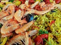 Paella - detalhe Imagens de Stock Royalty Free