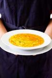 Paella do arroz espanhol Fotografia de Stock Royalty Free