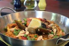 Paella do marisco Foto de Stock