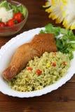 Paella do prato peruano Fotos de Stock Royalty Free