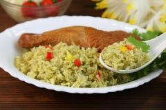 Paella do prato peruano Imagens de Stock