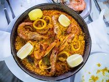 Paella en Espagne Photo stock