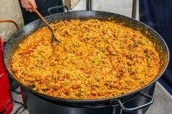 Paella espagnole Images libres de droits