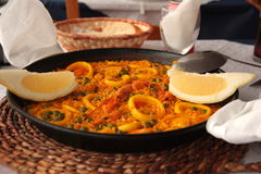 Paella espagnole Photographie stock
