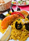 Paella espagnole de nourriture de Traditionnal Photographie stock