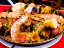 Paella espagnole de nourriture de Traditionnal Image libre de droits