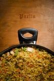 Paella espagnole de poulet Images libres de droits