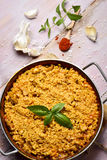 Paella espagnole de poulet Photographie stock