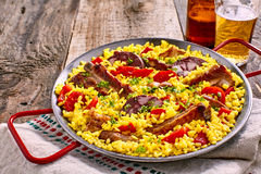Paella espagnole saine de homo d'Al Image stock