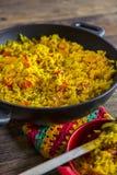 Paella espagnole traditionnelle Photo stock