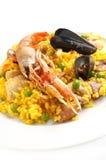 Paella espagnole traditionnelle de nourriture Photos stock